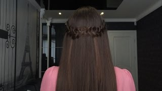 Impletitura - coroana Half crown braid