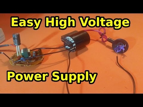 Make a High Voltage Power Supply Using a...