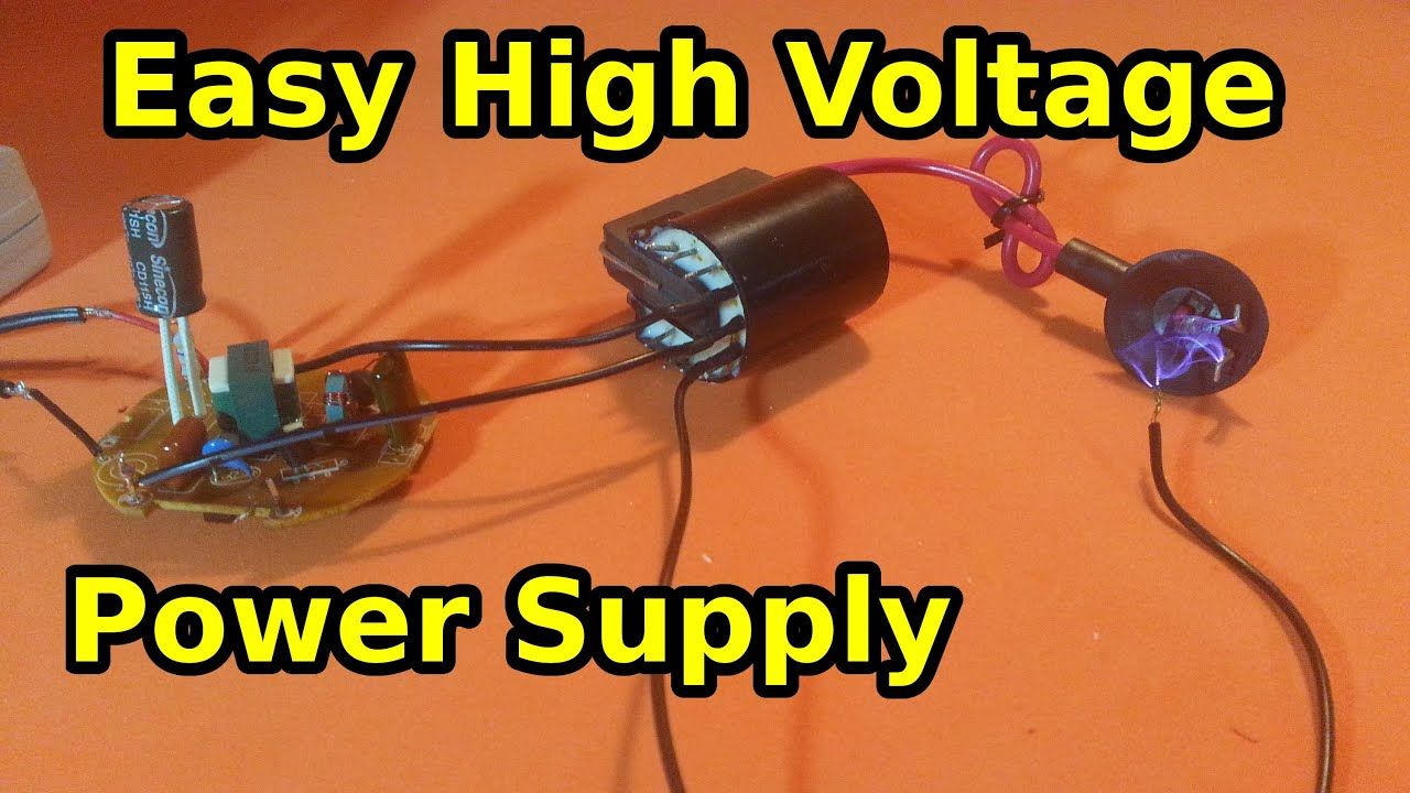Make a High Voltage Power Supply Using a CFL Lamp and a Flyback