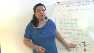 Урок 4.10 уроков тайм-менеджмента от Инны Иголкиной. Как ставить цели? SMART цели