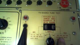 A quick tour of my u-test-m tube tester. I think this one was made ...