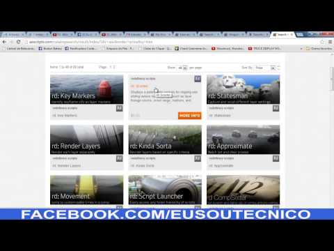 Tutorial Download Script AFTER EFFECTS  SITE  www.aescripts.com