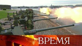 В Санкт-Петербурге прошла финальная репетиция морского парада в честь дня ВМФ.