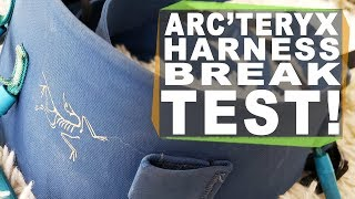 Arc'teryx 395A Harness Break Test!  How strong is the most expensive harness highliners use?
