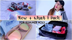 How + What I Pack For Summer Holidays | Amy Menzies