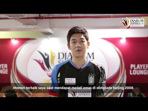 Lee Yong Dae at Player's lounge Djarum Superliga Badminton 2017