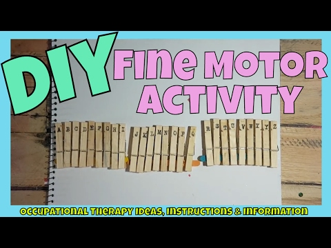 Alphabet Pegs | Fine Motor Activity | Learn Letters & sight words