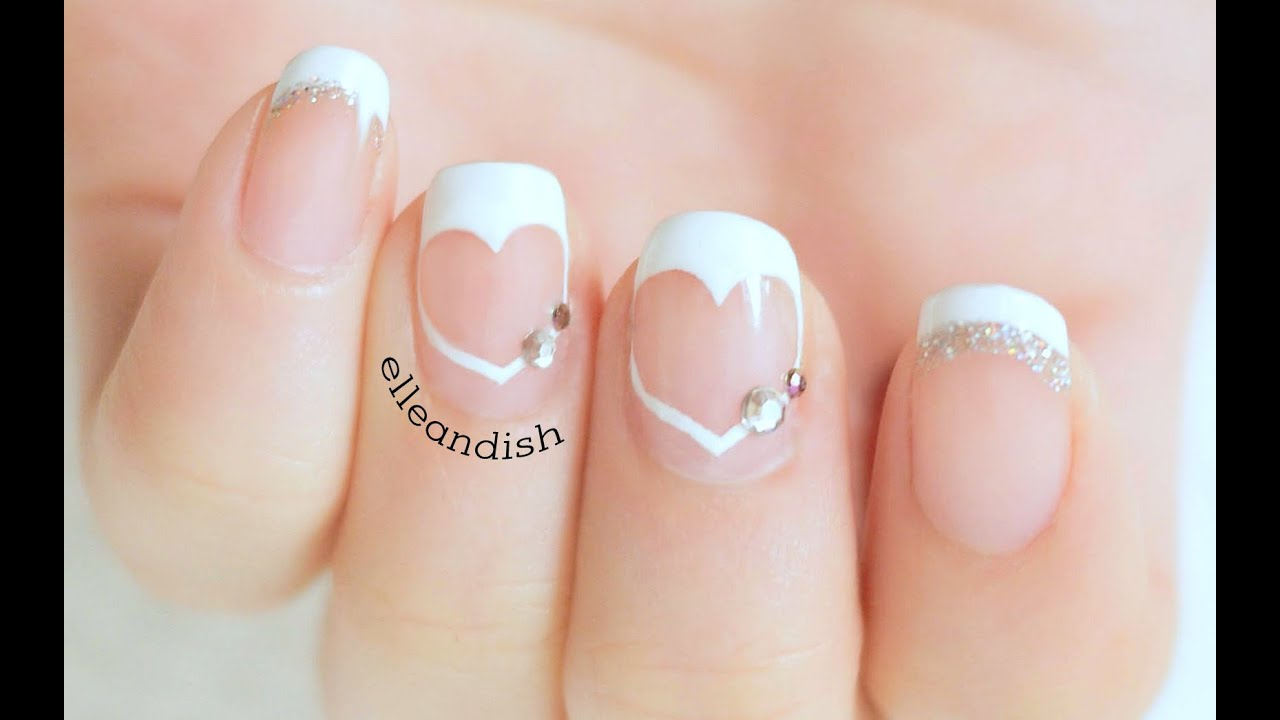 Easy Heart French Tips (Negative Space) - YouTube