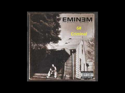 "My top  Eminem Songs from the Album:"" Marshall Mathers Lp"""
