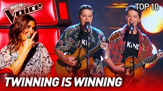 You're not seeing double, it's TWINS on The Voice!  | Top 10