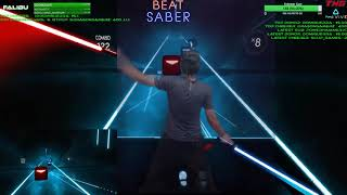 Highlight: Beat Saber VR! Mixed Reality LVL Insane / Hard / Full Combo | Day 3 - Episode 1