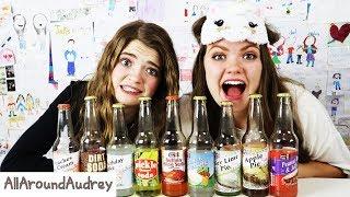 Guessing Weird Soda Flavors Challenge GROSS! I AllAroundAudrey