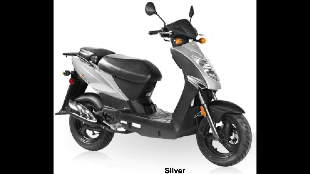 kymco agility 50 4t silver 49cc scooter youtube. Black Bedroom Furniture Sets. Home Design Ideas