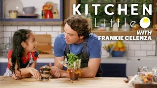 Frankie Celenza Gets Cooking Lessons from Kid Chef