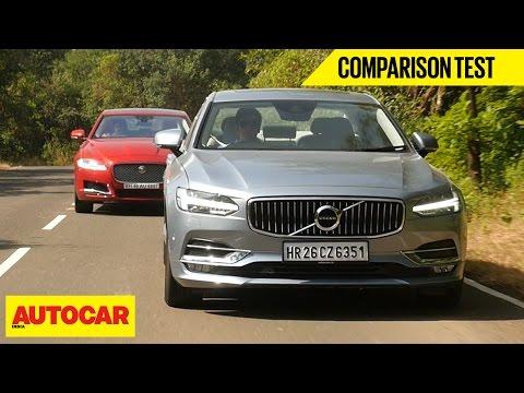 Volvo S90 VS Jaguar XF | Comparison Test | Autocar India