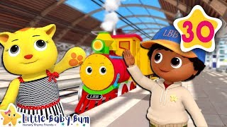 Trains Song 1-10 | How To Nursery Rhymes | Fun Learning with LittleBabyBum