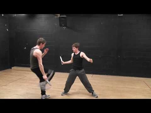 Bristol Old Vic Theatre School advanced fight test - knife and unarmed