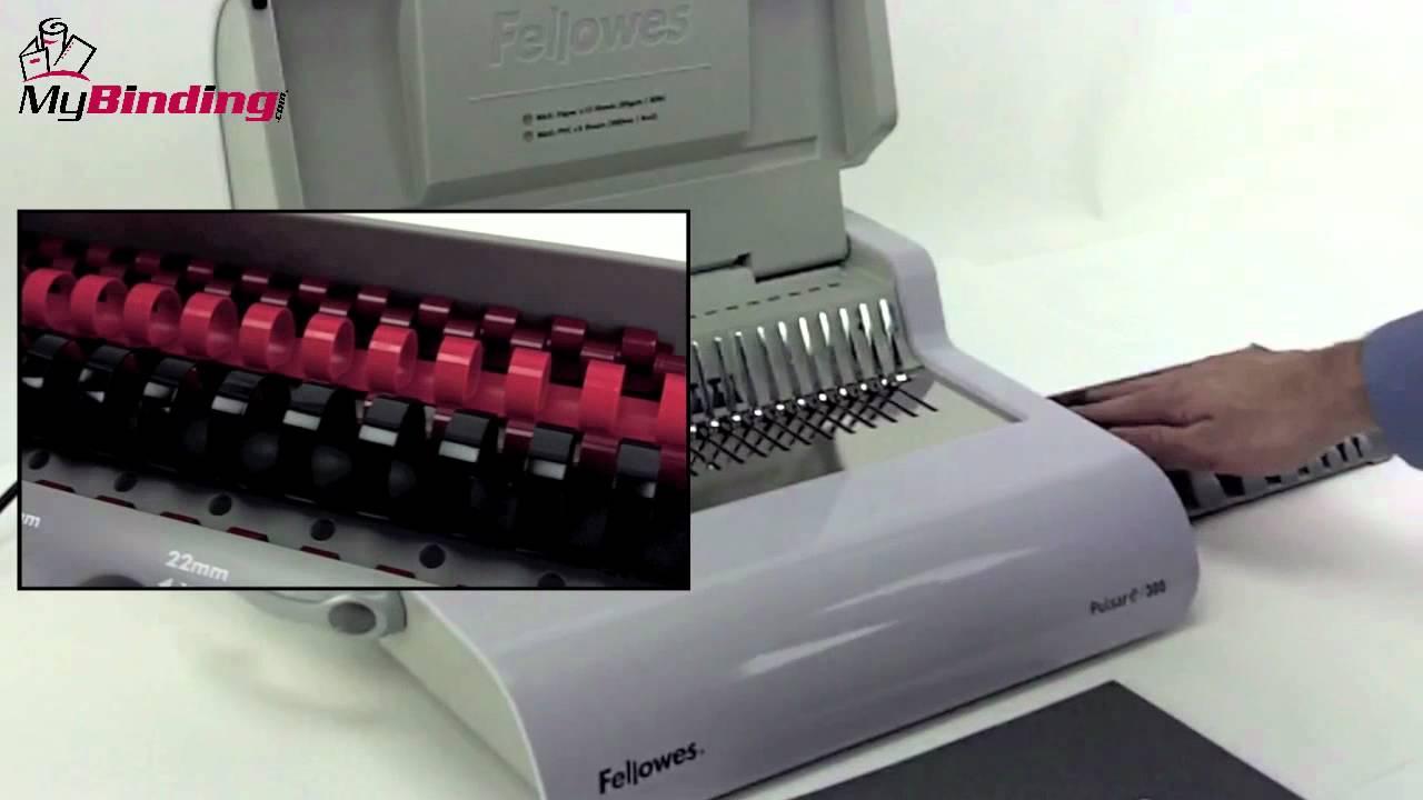 Fellowes Pulsar E Electric Comb Binding Machine Demo - 5216701