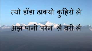 Nepali Karaoke Song Jomsomai Bazaarma