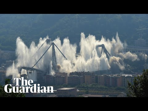 Genoa: remaining structure of Morandi Bridge demolished