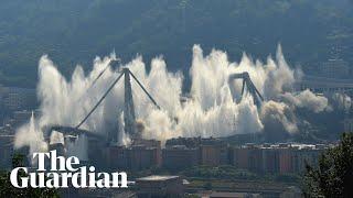 Genoa: remaining structure of Morandi Bridge demolished