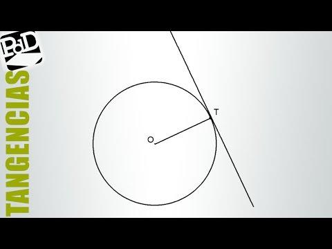 Recta tangente a una circunferencia, conociendo el punto de tangencia.