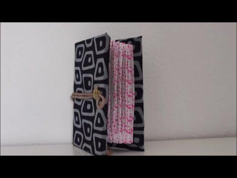 DIY: Notizbuch aus Stoff / Muttertag Geschenk basteln, selber machen