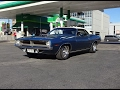 1970 Plymouth Cuda Barracuda Convertible in Blue & 440 Engine Sound My Car Story with Lou Costabile