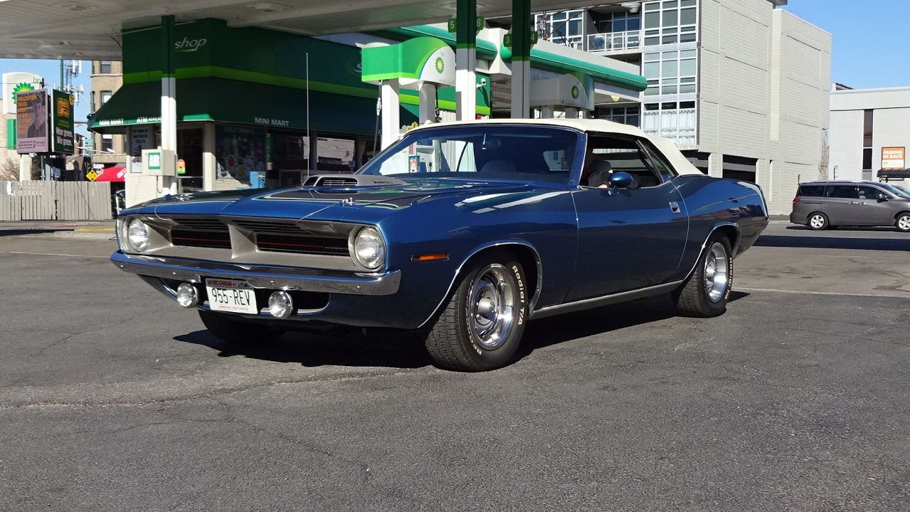 1970 Plymouth Cuda Barracuda Convertible In Blue 440 Engine