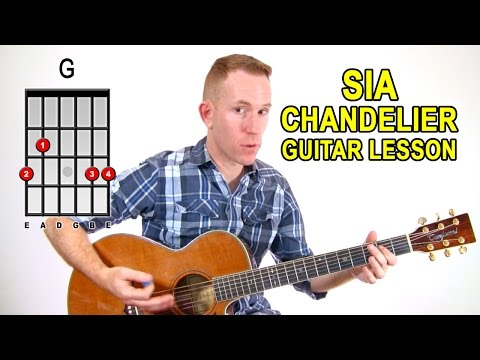 SIA ★ Chandelier ★ Acoustic Guitar Lesson - Easy How To Play Tutorial