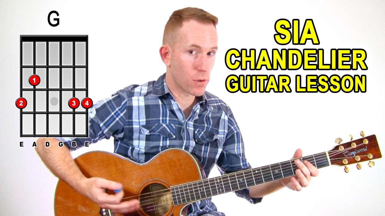 SIA ☆ Chandelier ☆ Acoustic Guitar Lesson - Easy How To Play ...