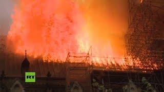 Así lucharon los bomberos contra el incendio en Notre Dame