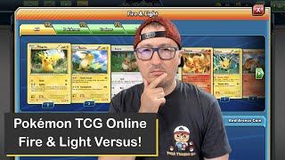Pokémon TCG Online Versus Battle with the Fire and Light Deck