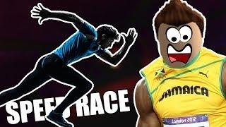 JSEM USAIN BOLT?! | ROBLOX : SPEED RACE
