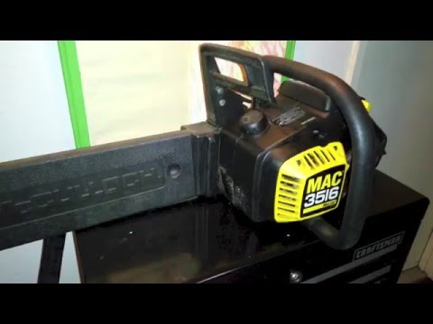 How to replace fuel lines in a McCulloch 3516 chainsaw - YouTube