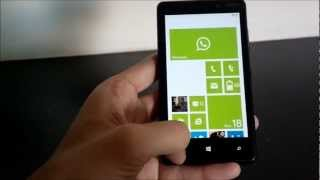 WhatsApp for Windows Phone 8 on Nokia Lumia 820