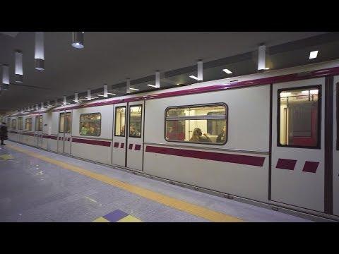 Bulgaria, Sofia, metro ride from Академик Александър Теодоров - Балан to Бизнес парк София