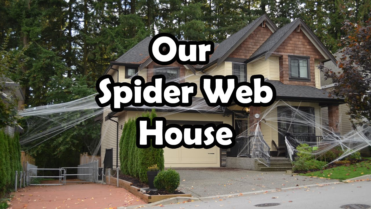 halloween spider web house decorations bethany g youtube - Decorating House For Halloween
