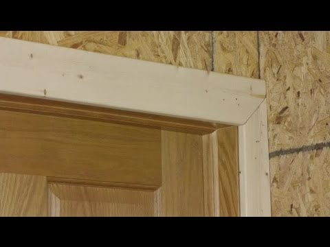 How To Install Trim Casing On A Door Adjacent To An Inside Cor