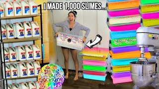 Restock My Slime Shop With Me For SLIME BASH! (i made 1,000 slimes!) 😱