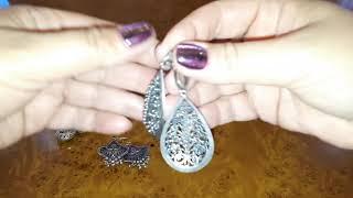 Мои серебряные серьги.