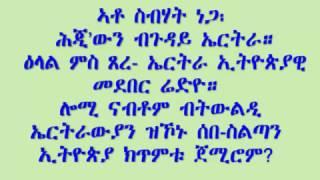 ato sebhat nega speaks about eritrea with anti eritrea radio station
