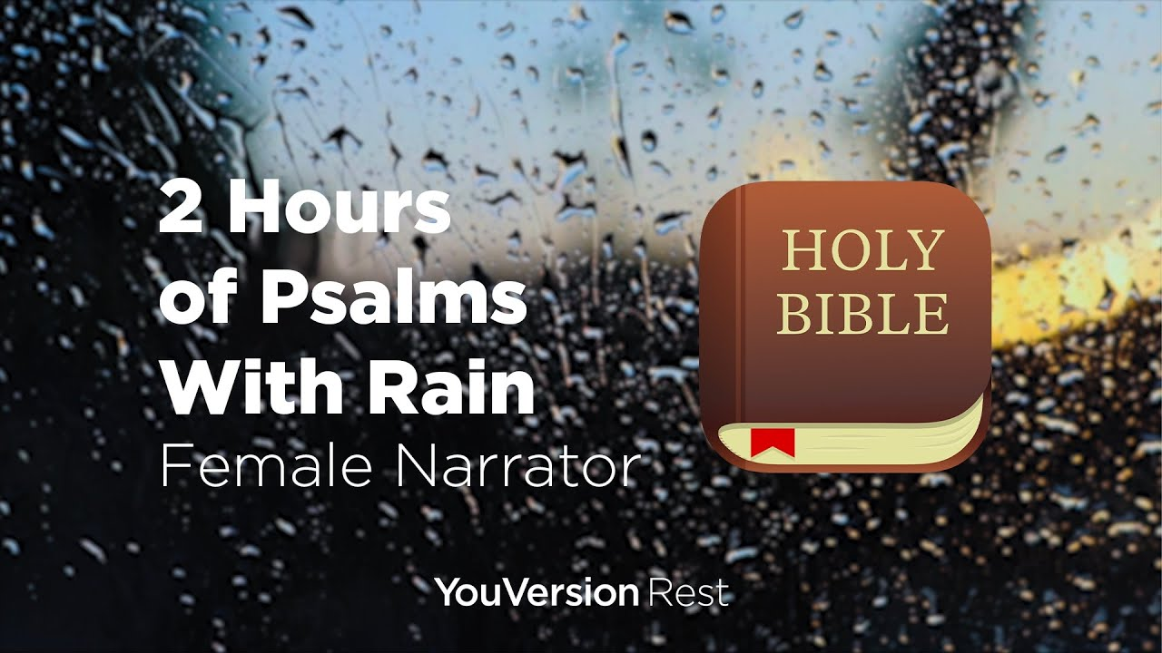 Bible Verses with Rain for Sleep and Meditation - 2 hours (Female Narrator)