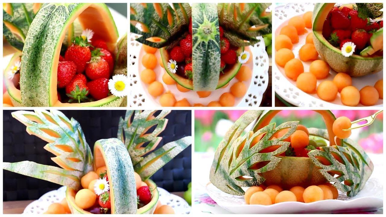 Super Fruits Melon Decoration Ideas - Fruits Plate Decoration