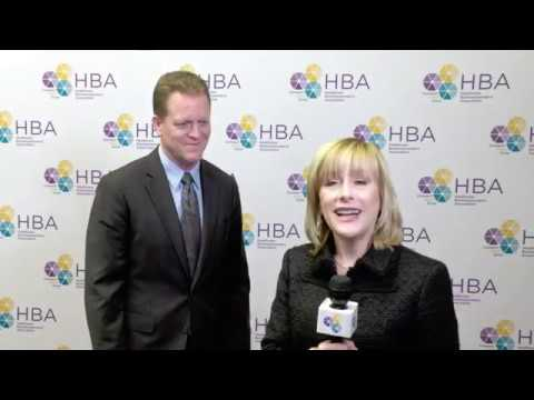 Steve Fry of Eli Lilly and Company on the 2017 HBA Woman of the Year red carpet