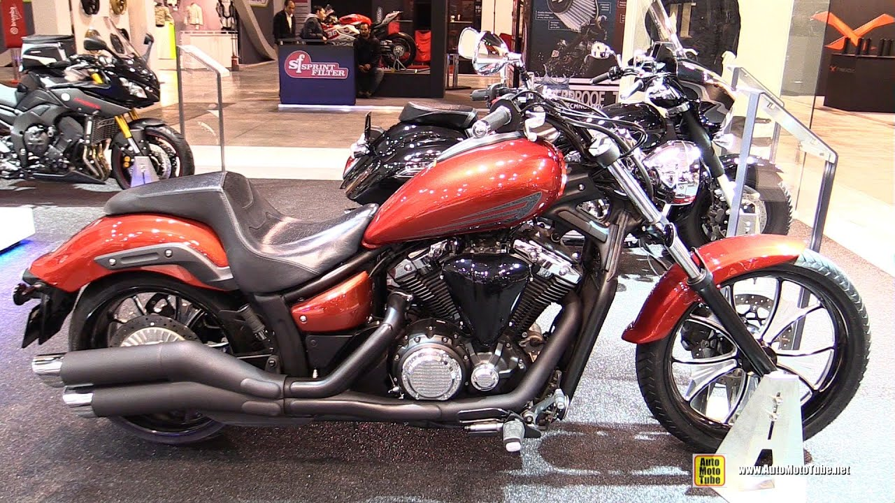 2015 yamaha xvs 1300 custom walkaround 2014 eicma. Black Bedroom Furniture Sets. Home Design Ideas