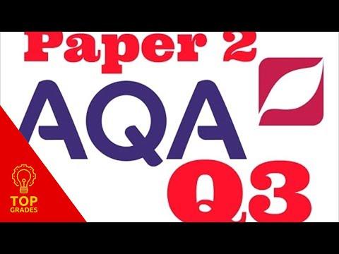 AQA GCSE English Language Paper 1 Question 3