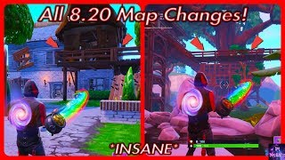 ALL *NEW* 8.20 Update Map Changes! (New Patch) | Fortnite Battle Royale
