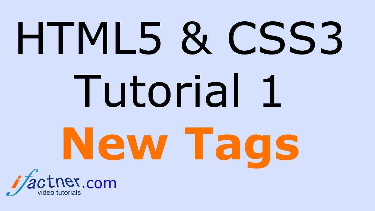 HTML5 and CSS3 tutorial for beginners