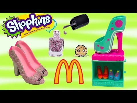 DIY Nail Polish Custom Shopkins Season 3 Mcdonalds Happy Meal Exclusive Toy Easy Craft Video